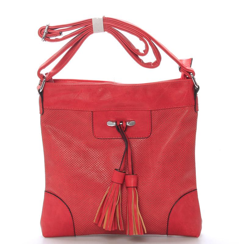 Dámská crossbody kabelka červená - Delami Whip