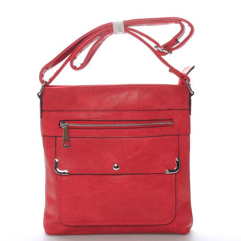 Dámská crossbody kabelka červená - Delami Strong