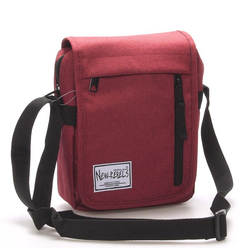 Unisex látková crossbody taška červená - New Rebels Rebelant