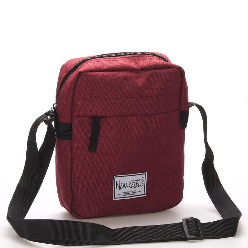 Unisex látková crossbody taška červená - New Rebels Rebelas