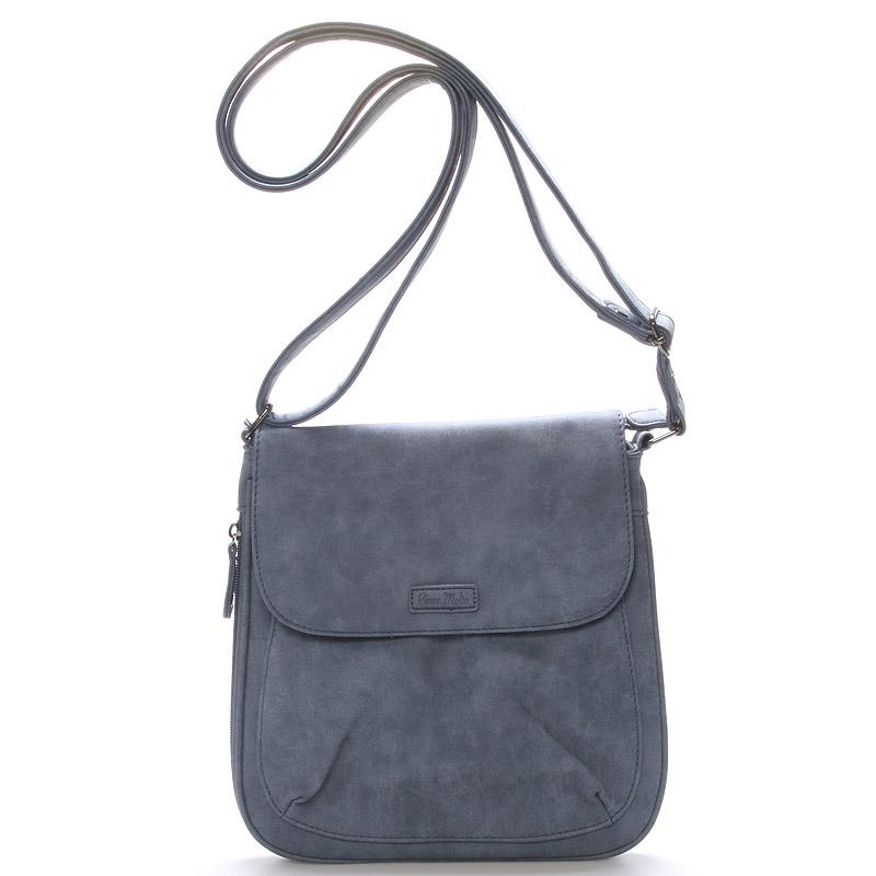 Dámská moderní crossbody kabelka modrá - Piace Molto Lady