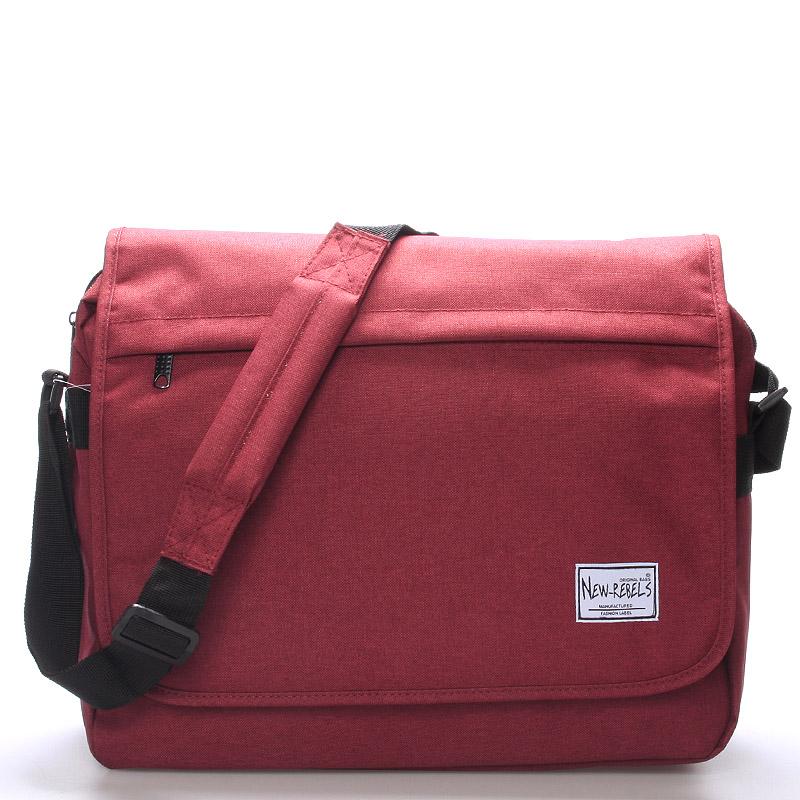 Unisex brašna přes rameno na notebook červená - New Rebels Rebelook