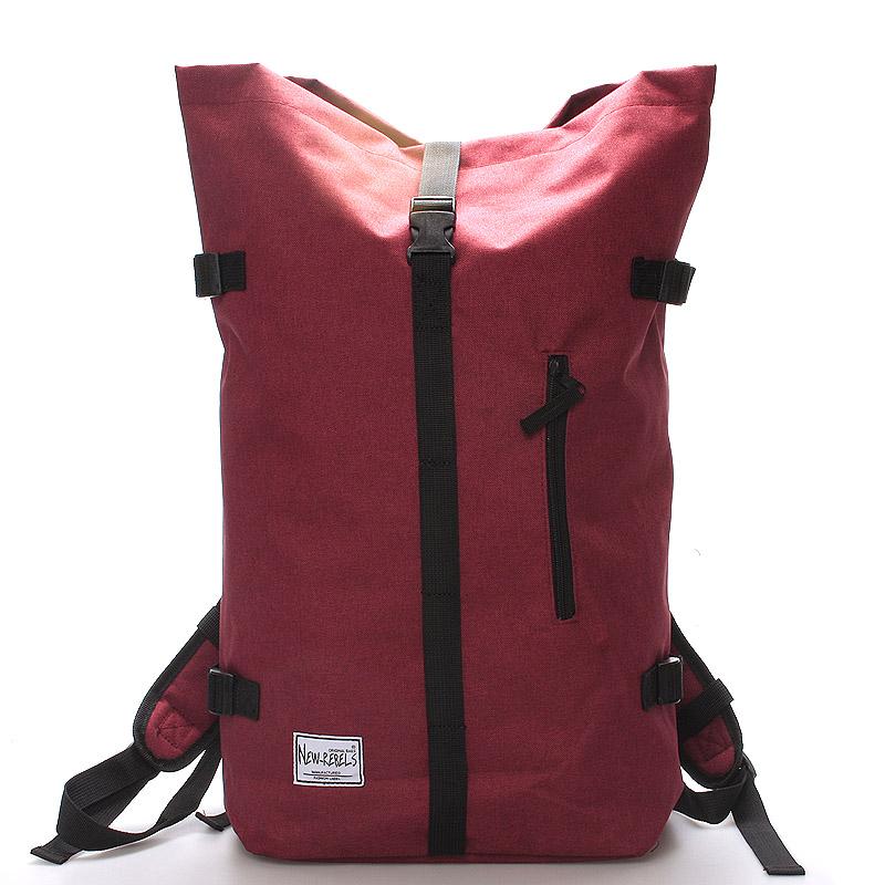 Jedinečný velký stylový unisex batoh červený- New Rebels Rebback