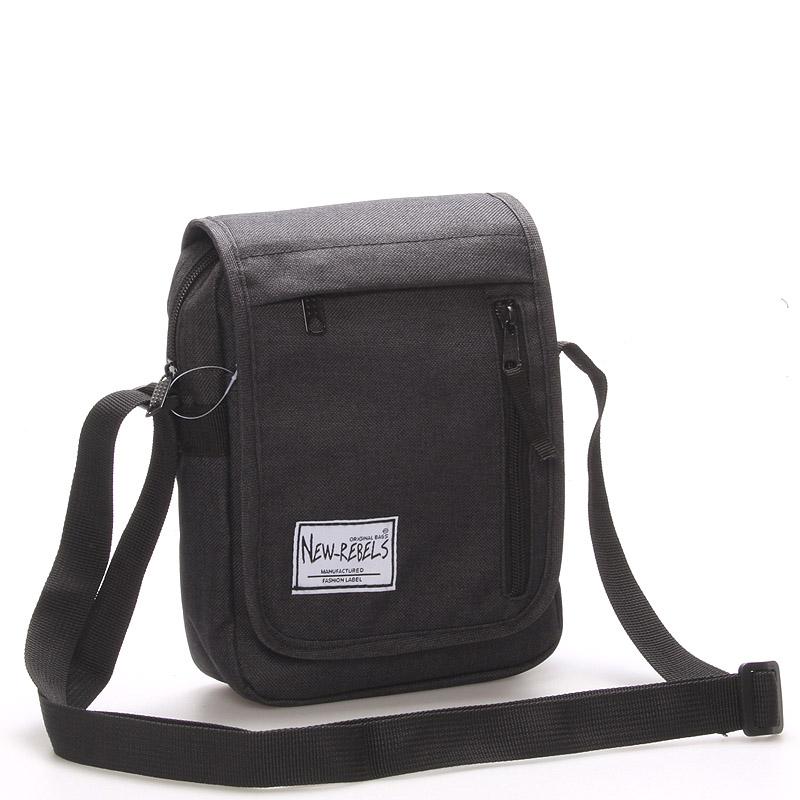 Unisex látková crossbody taška černá - New Rebels Rebelant