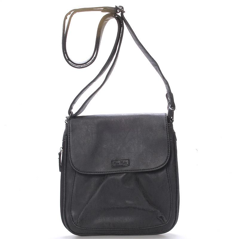 Dámská moderní crossbody kabelka černá - Piace Molto Lady