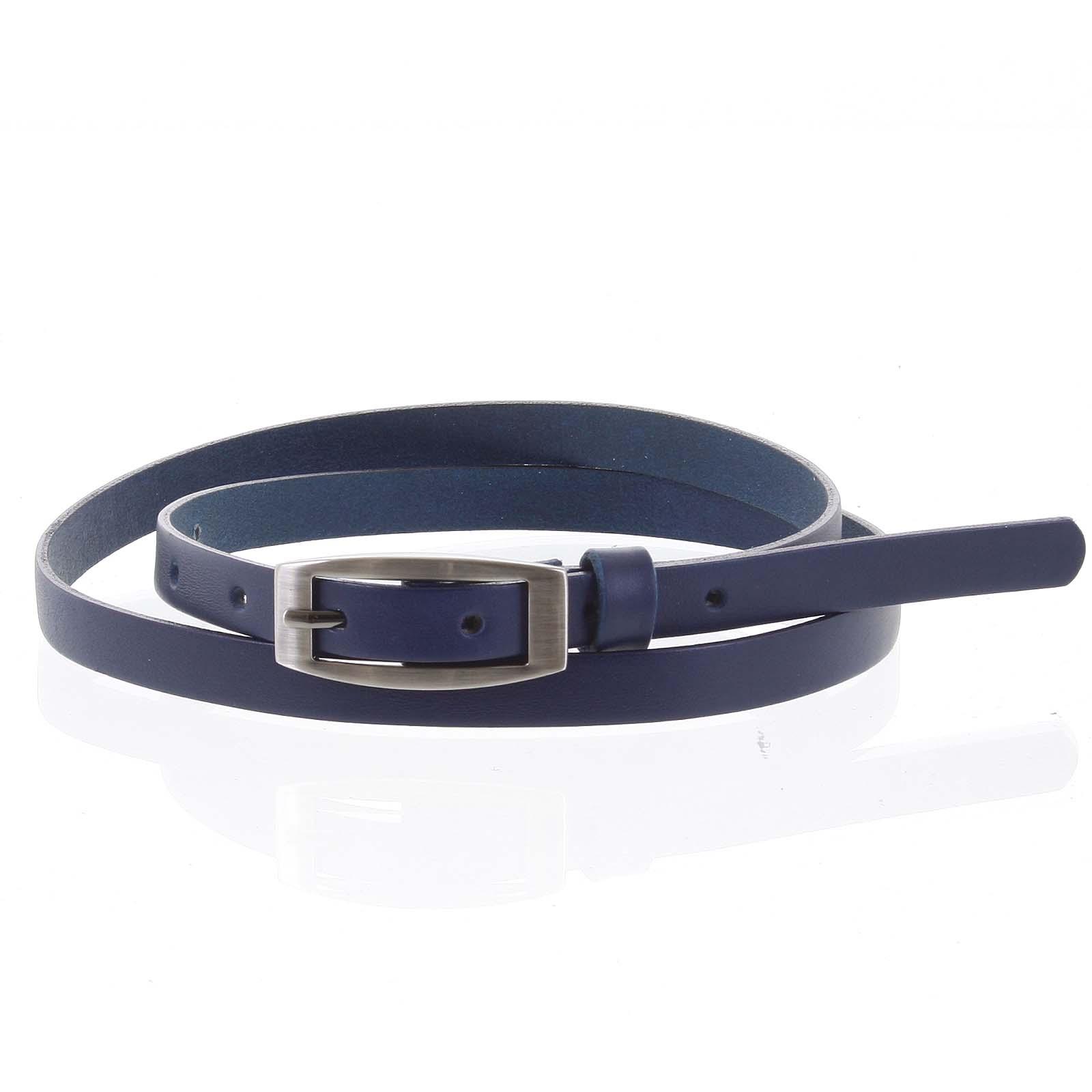 Dámský kožený opasek modrý - PB Zion 90