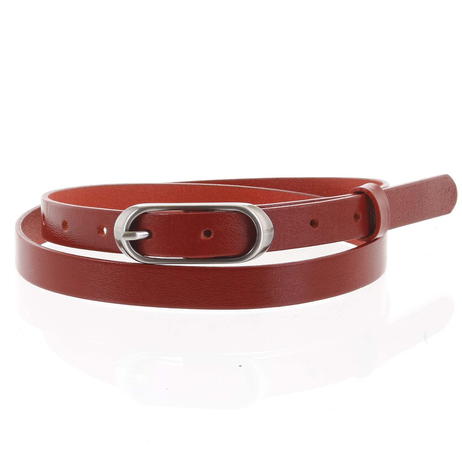 Dámský kožený opasek červený - PB Cain 100