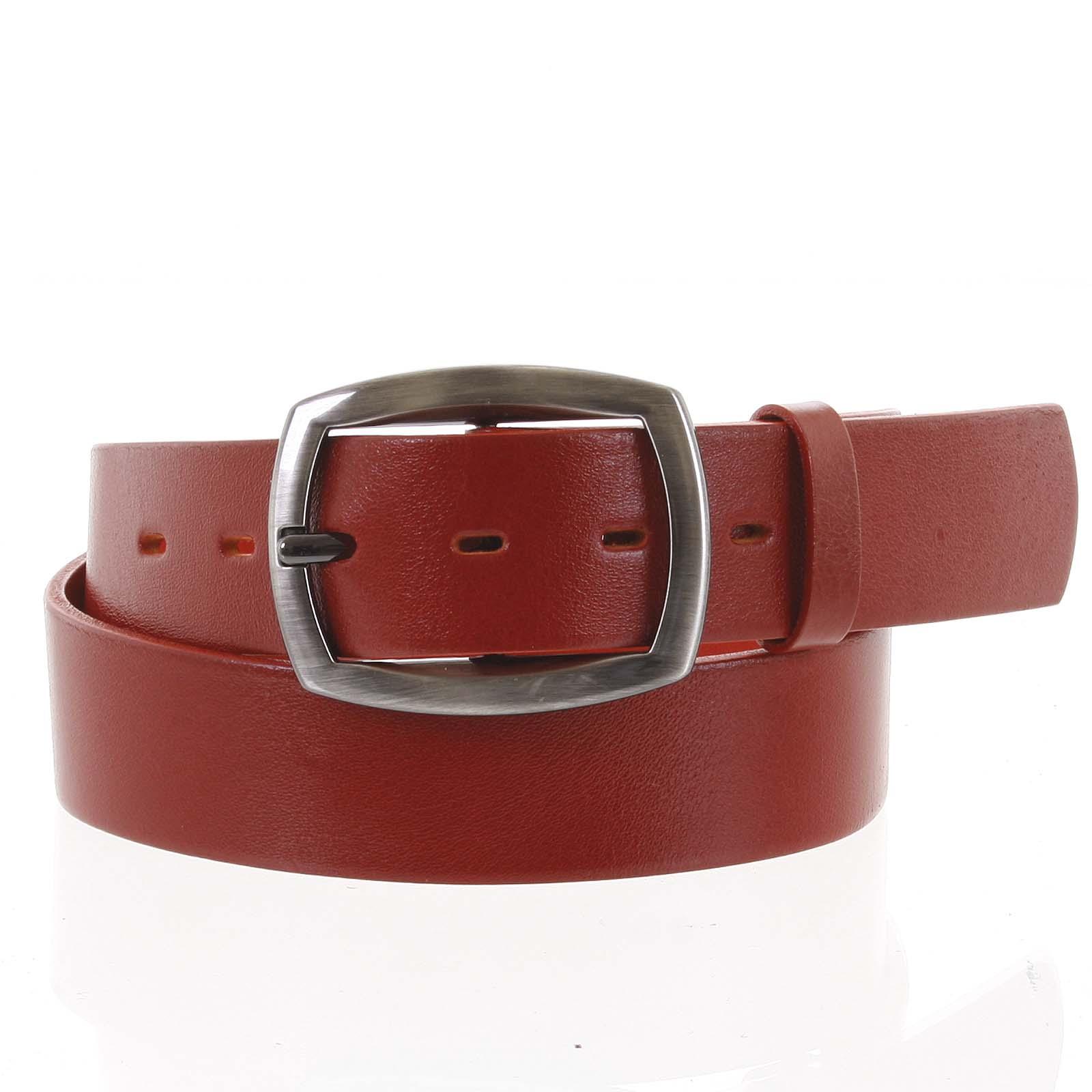 Dámský kožený opasek červený - PB Spain 90