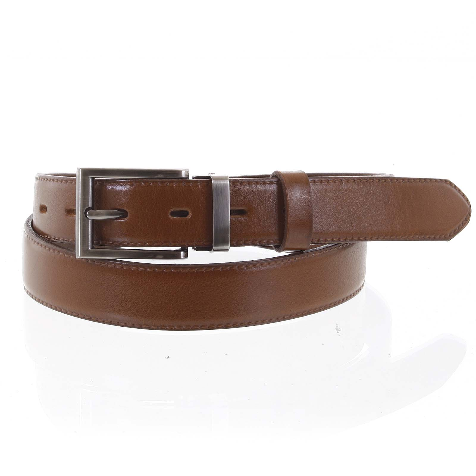 Pánský kožený opasek oblekový hnědý - PB Labim 115