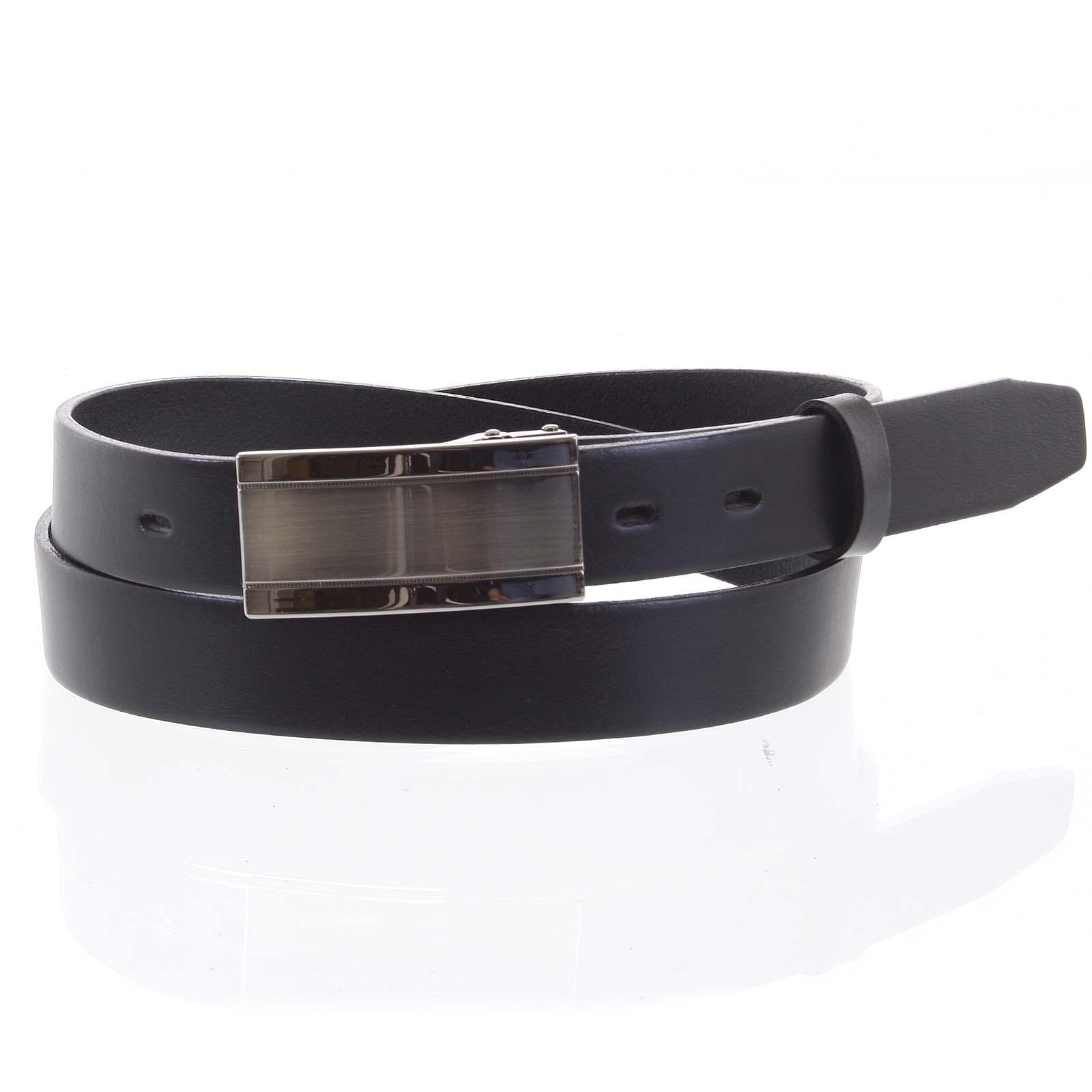 Pánský kožený opasek oblekový černý - PB Amon 115