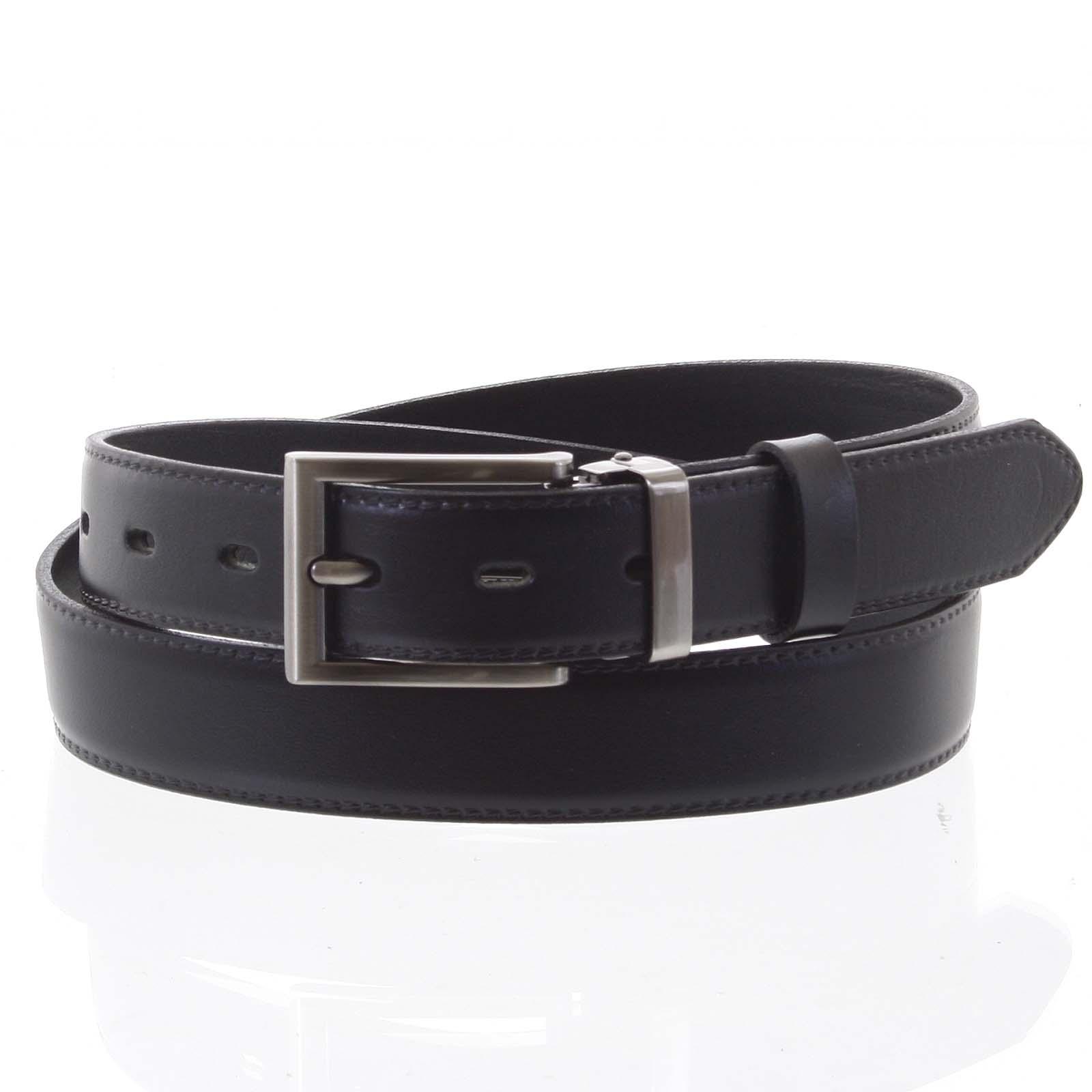 Pánský kožený opasek oblekový černý - PB Labim 95