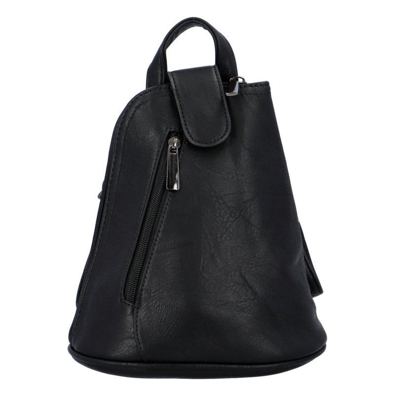 Malý dámský batůžek kabelka černý - Paolo Bags Conradine
