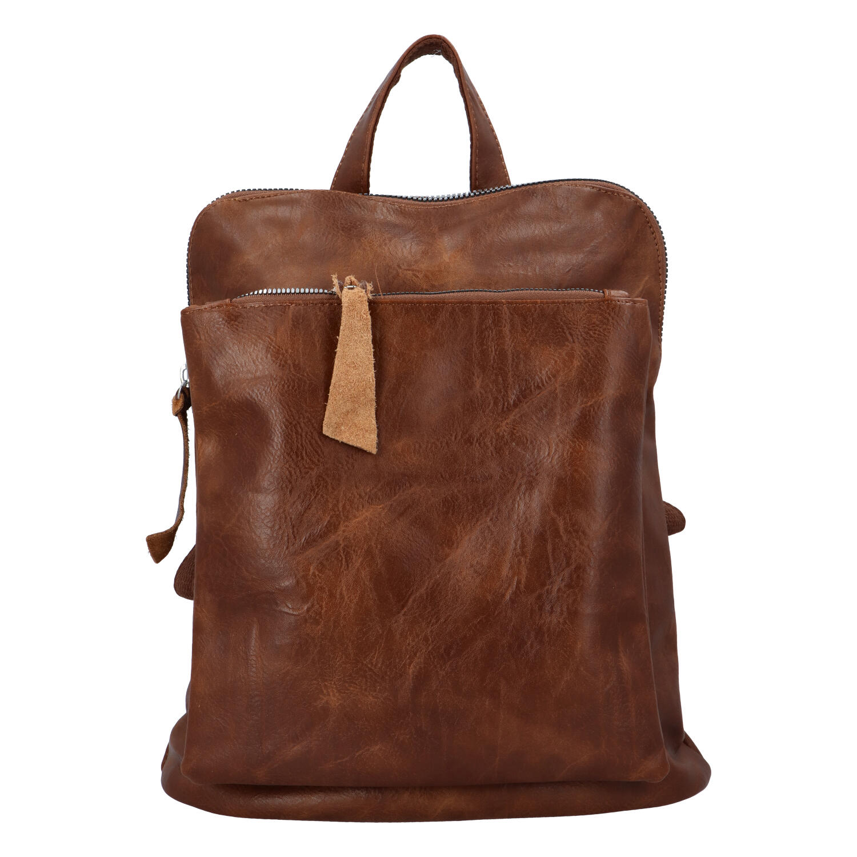Dámský městský batoh kabelka tmavě hnědý - Paolo Bags Buginni