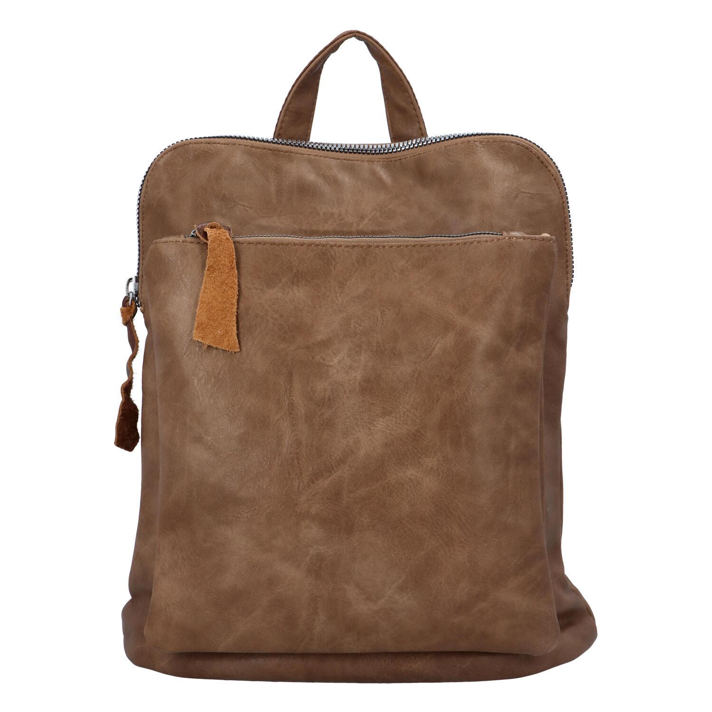 Dámský městský batoh kabelka taupe - Paolo Bags Buginni