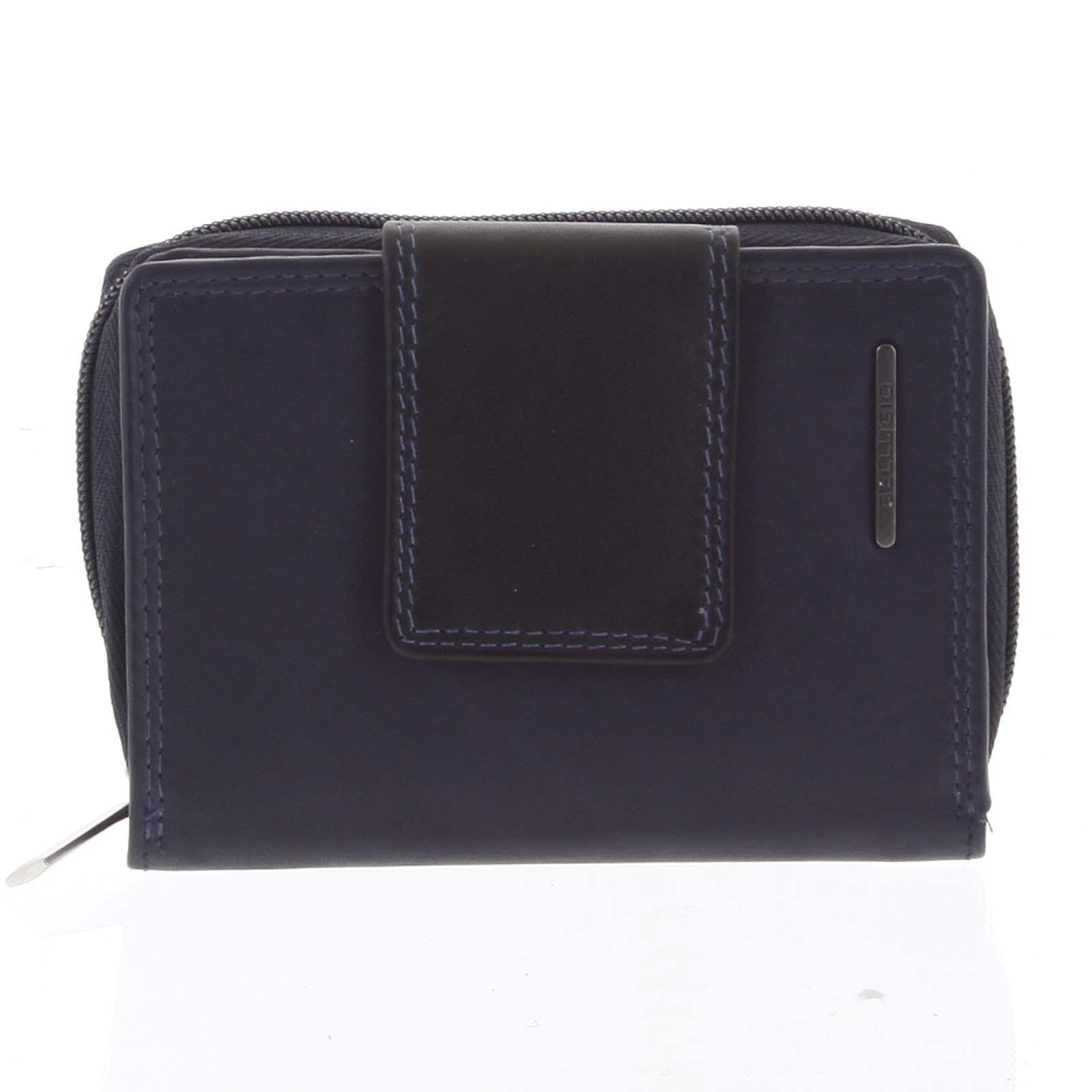Dámská kožená peněženka modro černá - Bellugio Eurusie