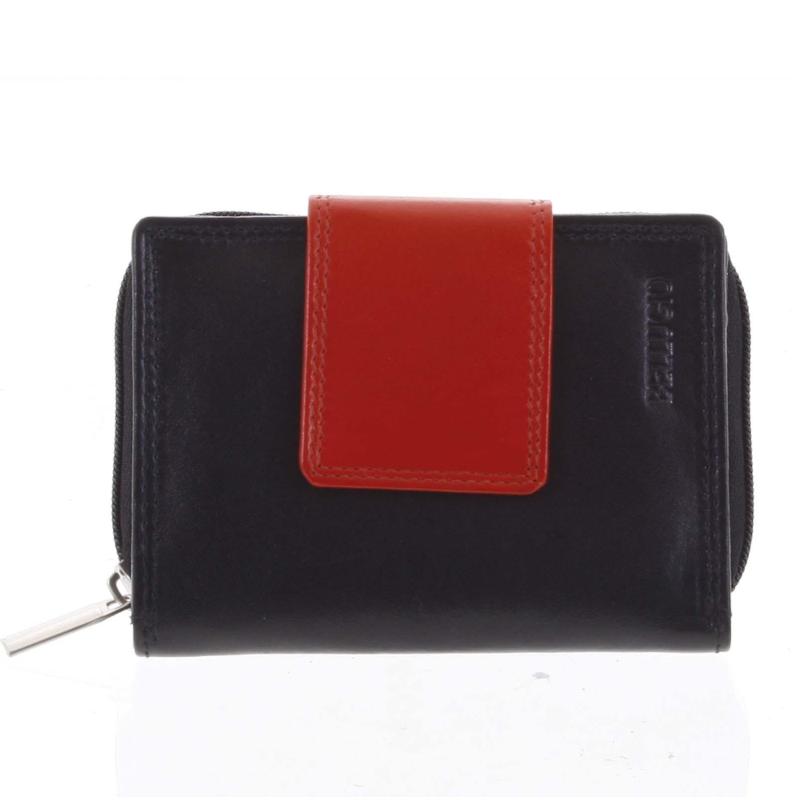 Dámská kožená peněženka černá - Bellugio Eliela