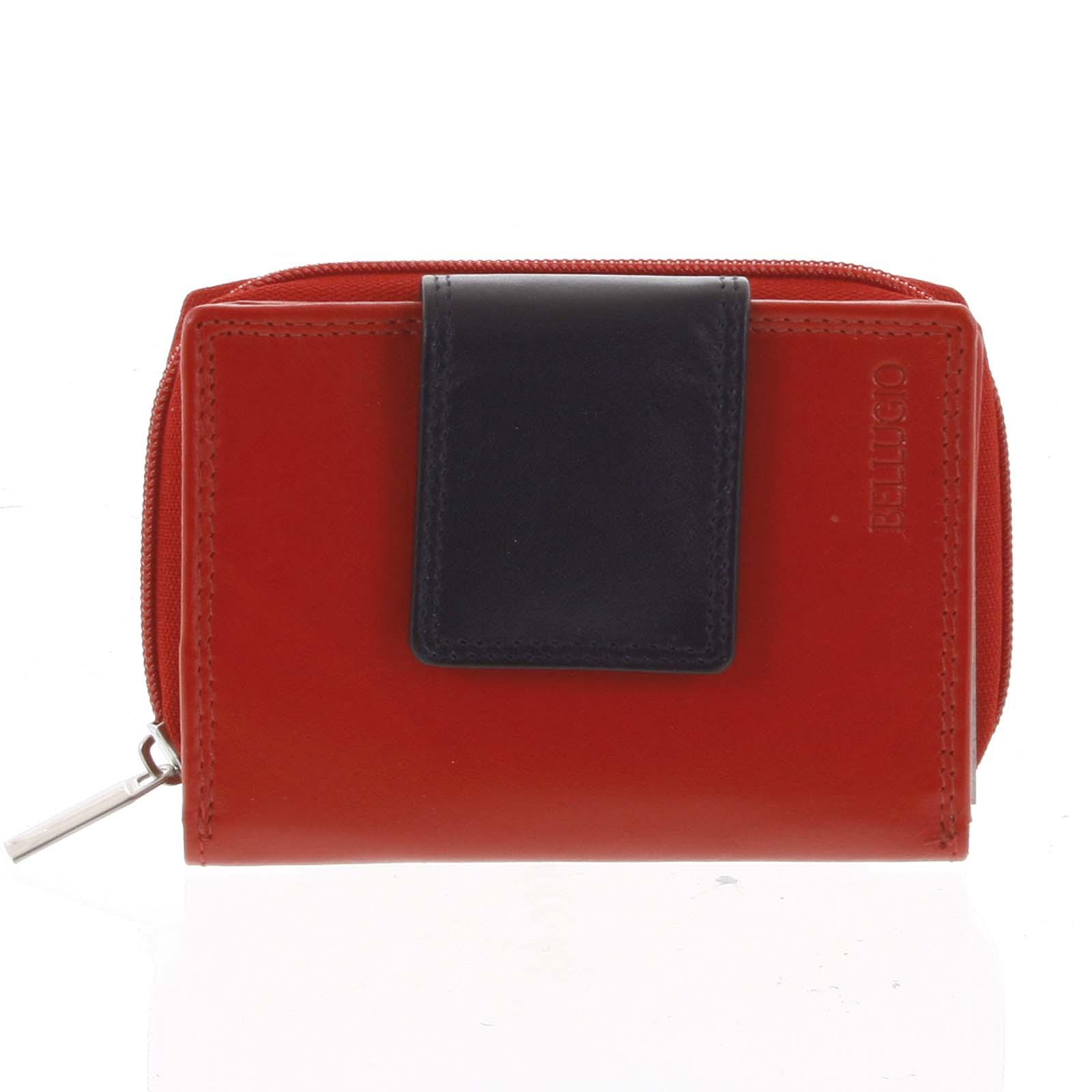 Dámská kožená peněženka červená - Bellugio Eliela
