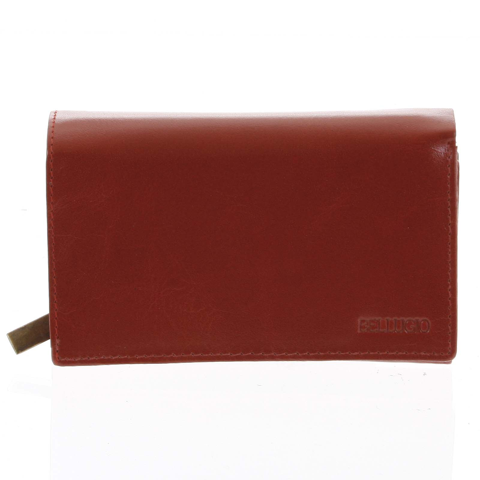 Dámská kožená peněženka červená - Bellugio Abada