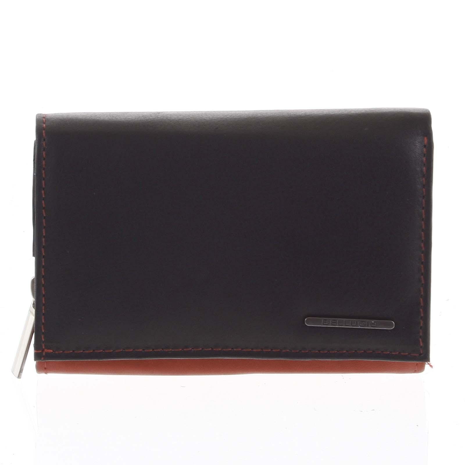 Dámská kožená peněženka červeno černá - Bellugio Averi