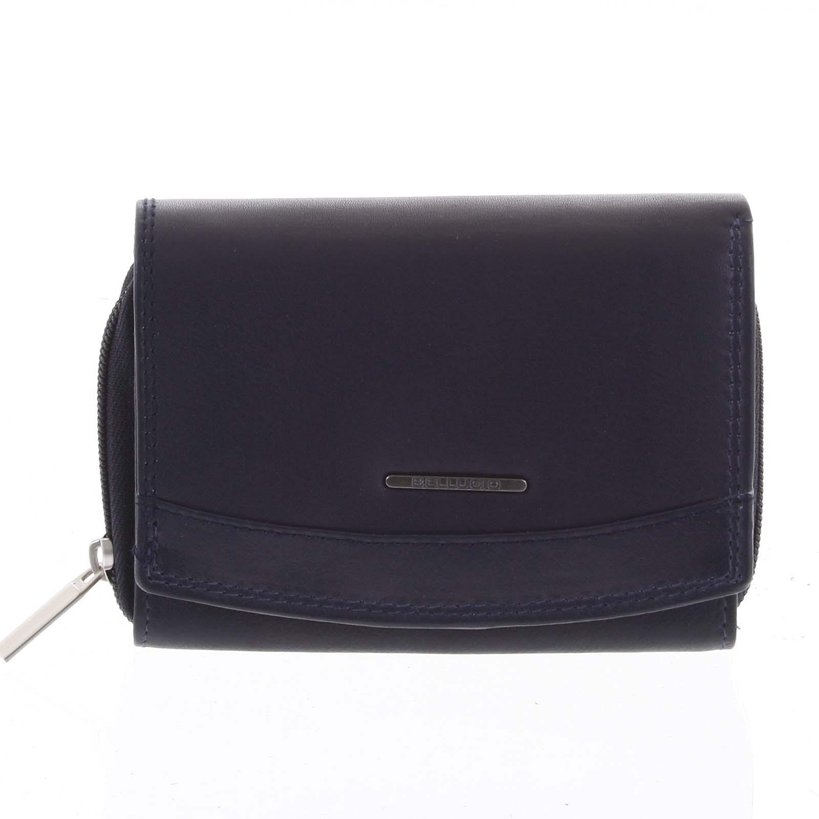 Dámská kožená peněženka modrá - Bellugio Smith