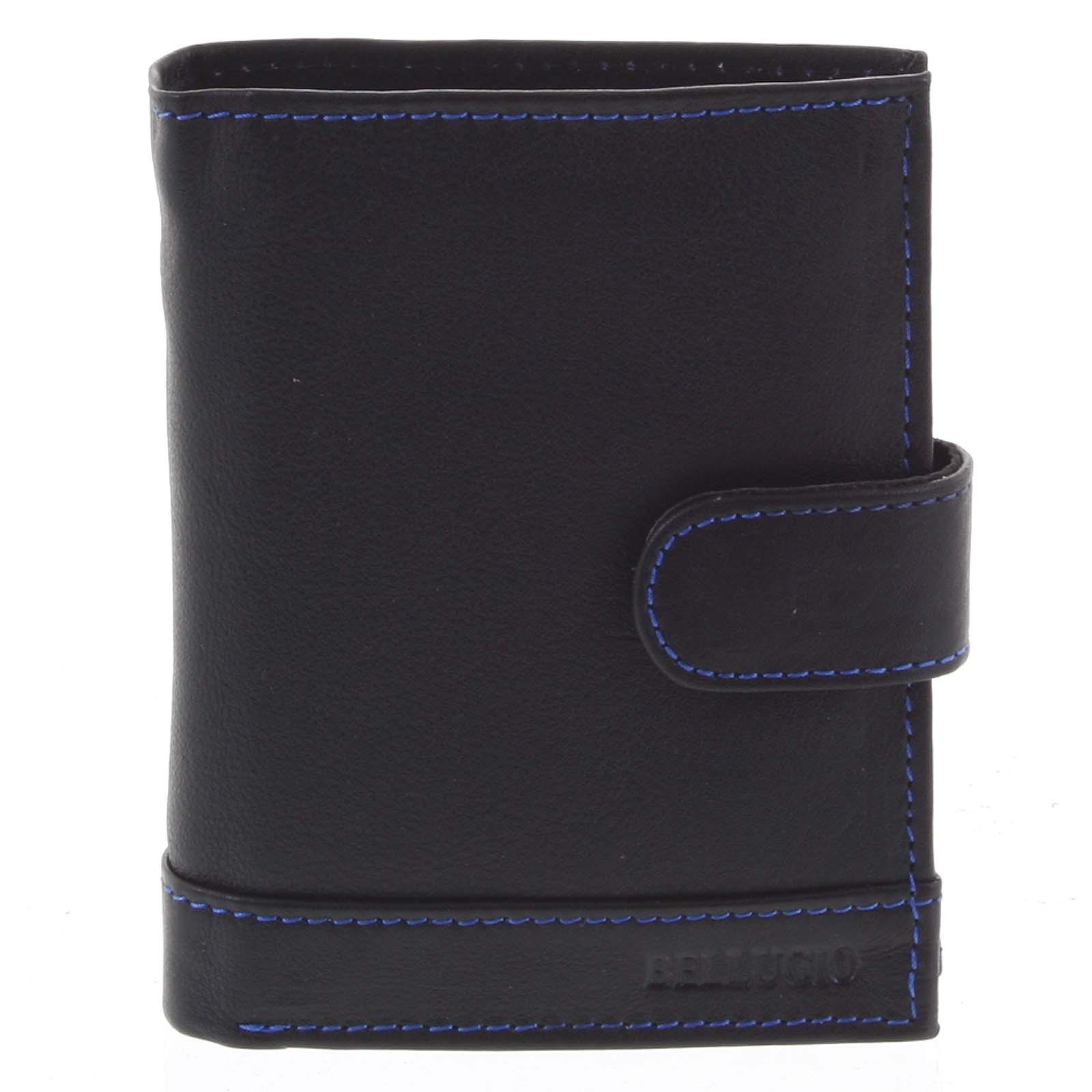 Pánská kožená peněženka černo modrá - Bellugio Garner