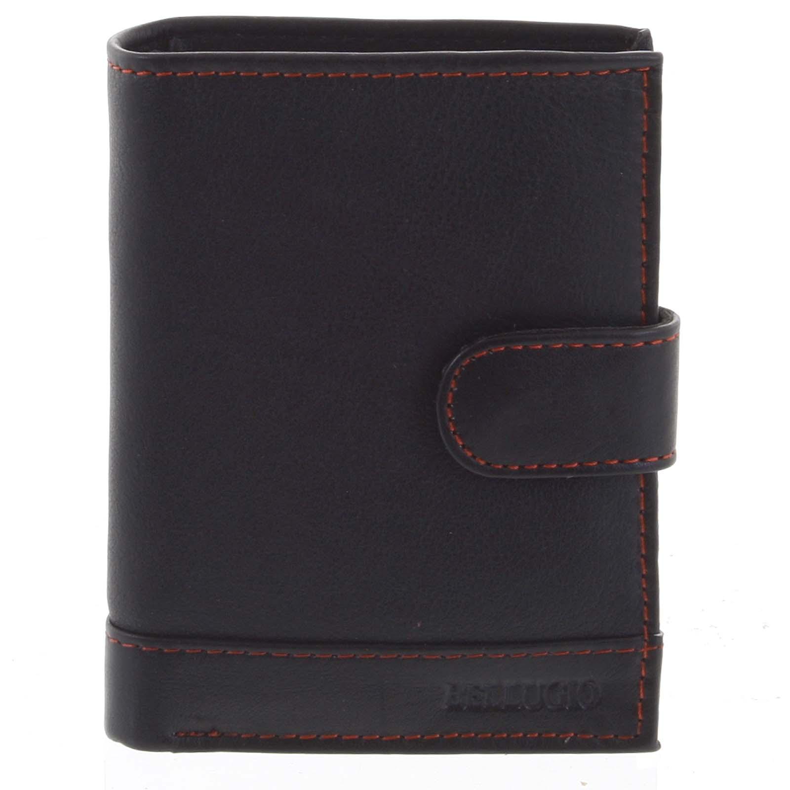 Pánská kožená peněženka černo červená - Bellugio Garner