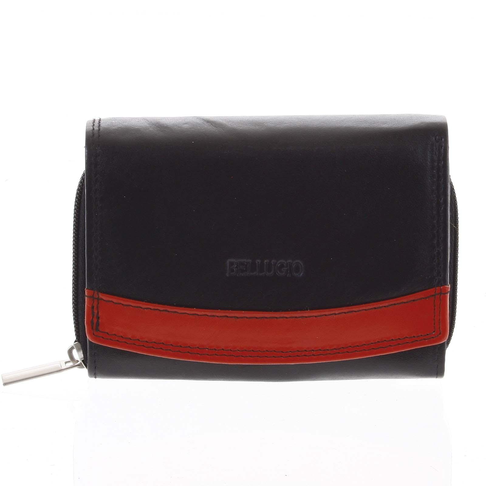 Dámská kožená peněženka černá - Bellugio Aleron