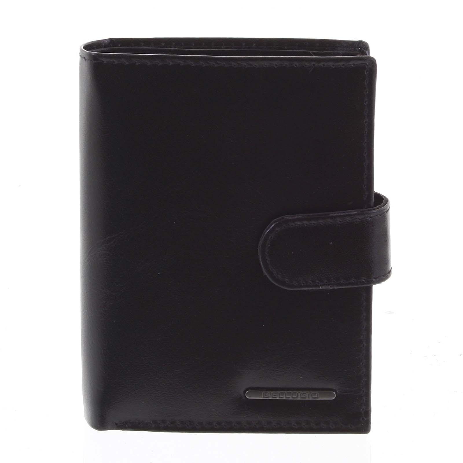 Pánská kožená peněženka černá - Bellugio Denis