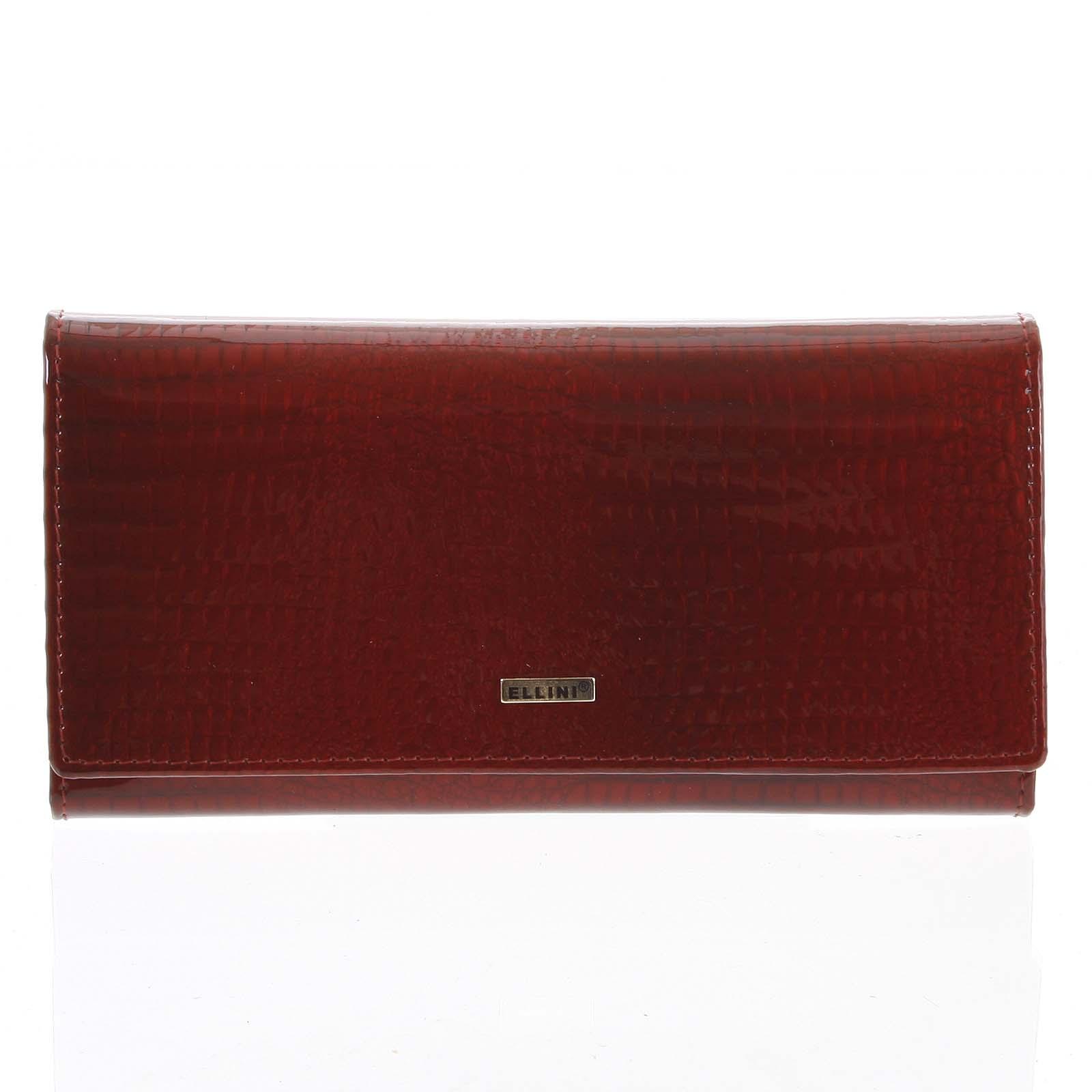 Dámská kožená peněženka červená - Ellini Curcio