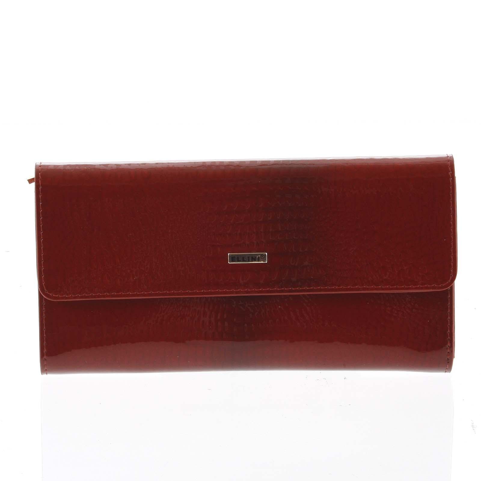 Luxusní dámská kožená peněženka červená - Ellini Amity