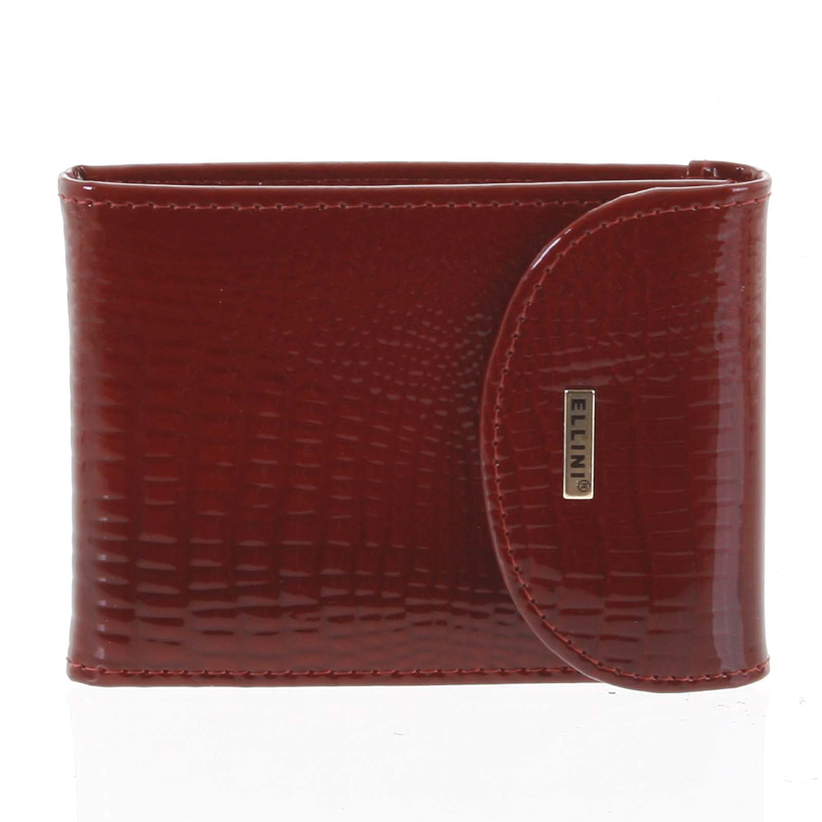 Luxusní kožené pouzdro na karty červené - Ellini Cher