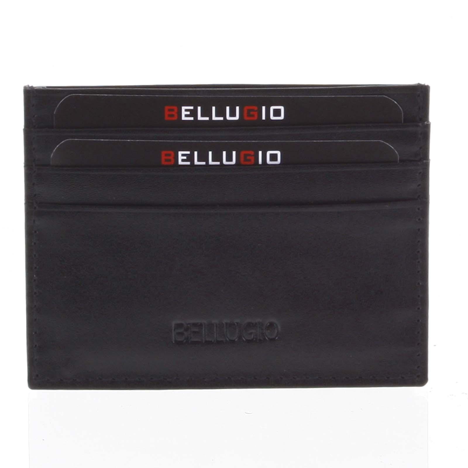 Kožené pouzdro na kreditní karty černé - Bellugio 1001
