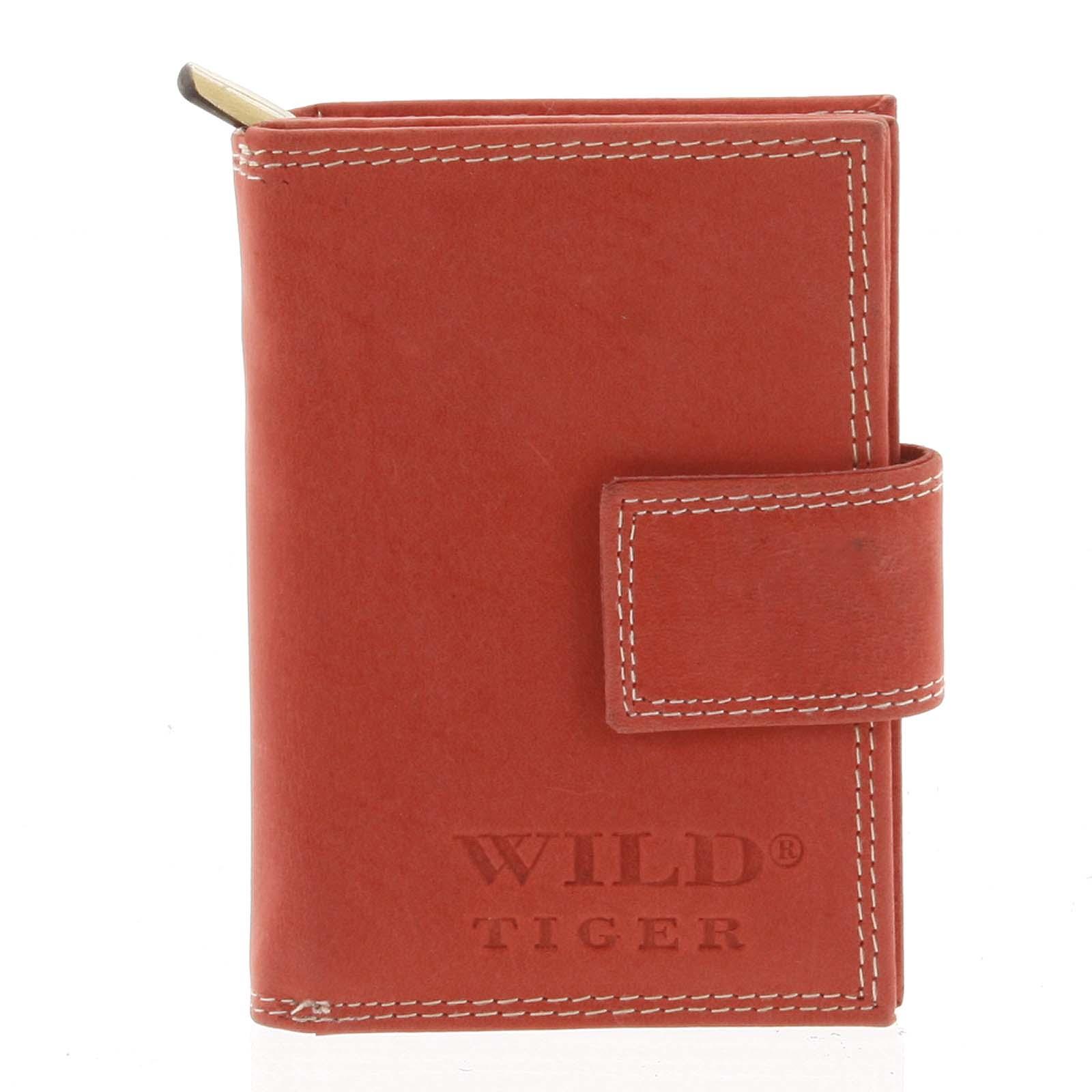 Kožená peněženka červená - WILD Tiger