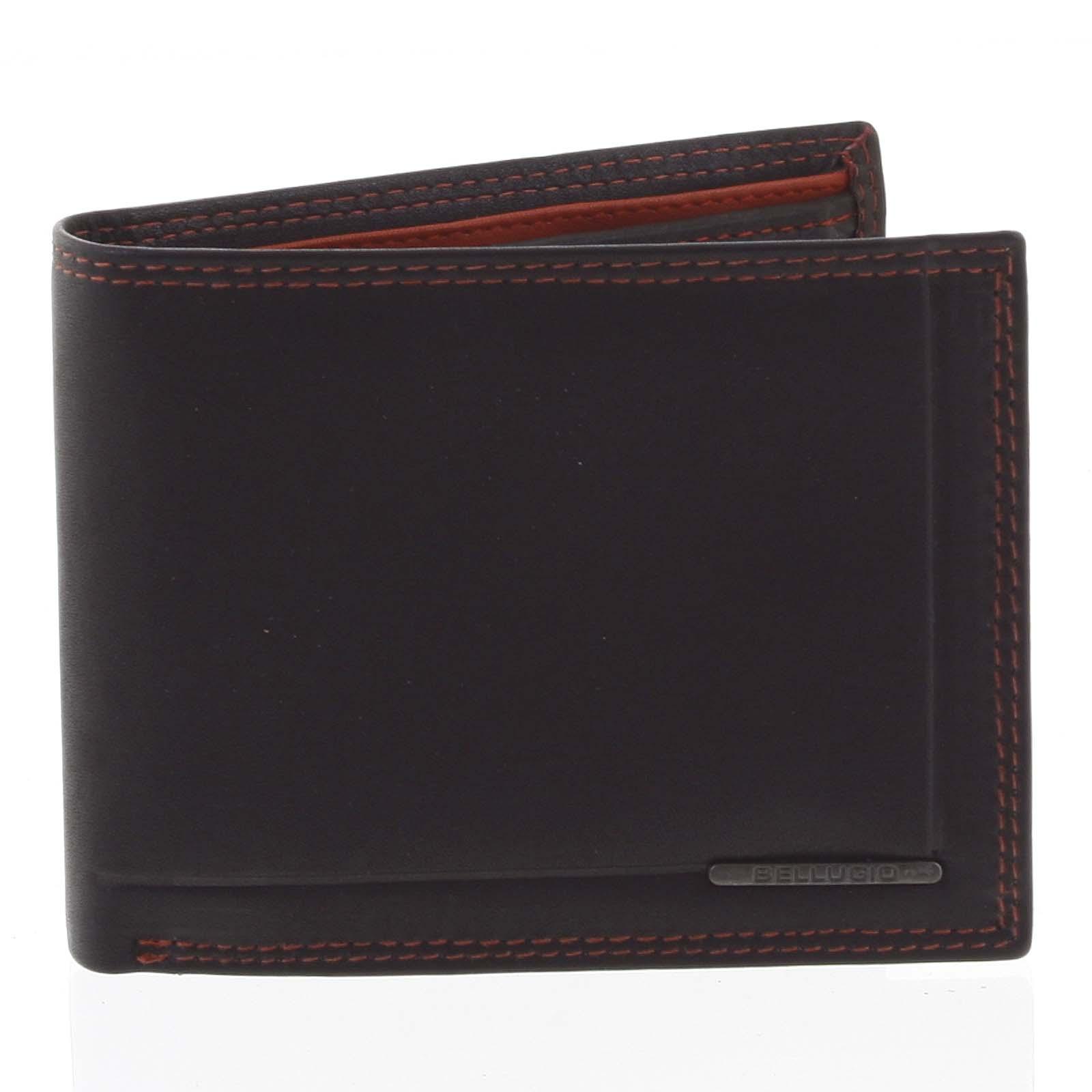 Pánská volná prošívaná peněženka černá - Bellugio Pann