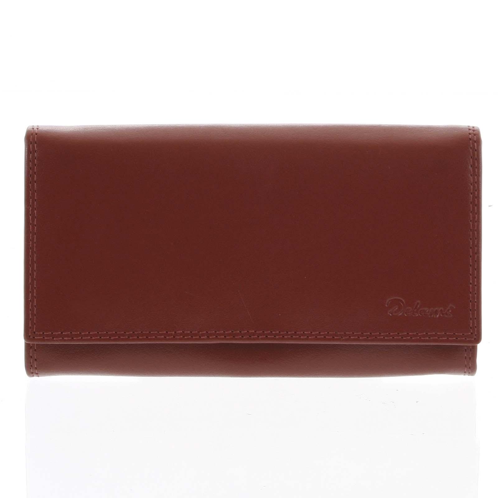 Dámská kožená peněženka červená - Delami Wandy