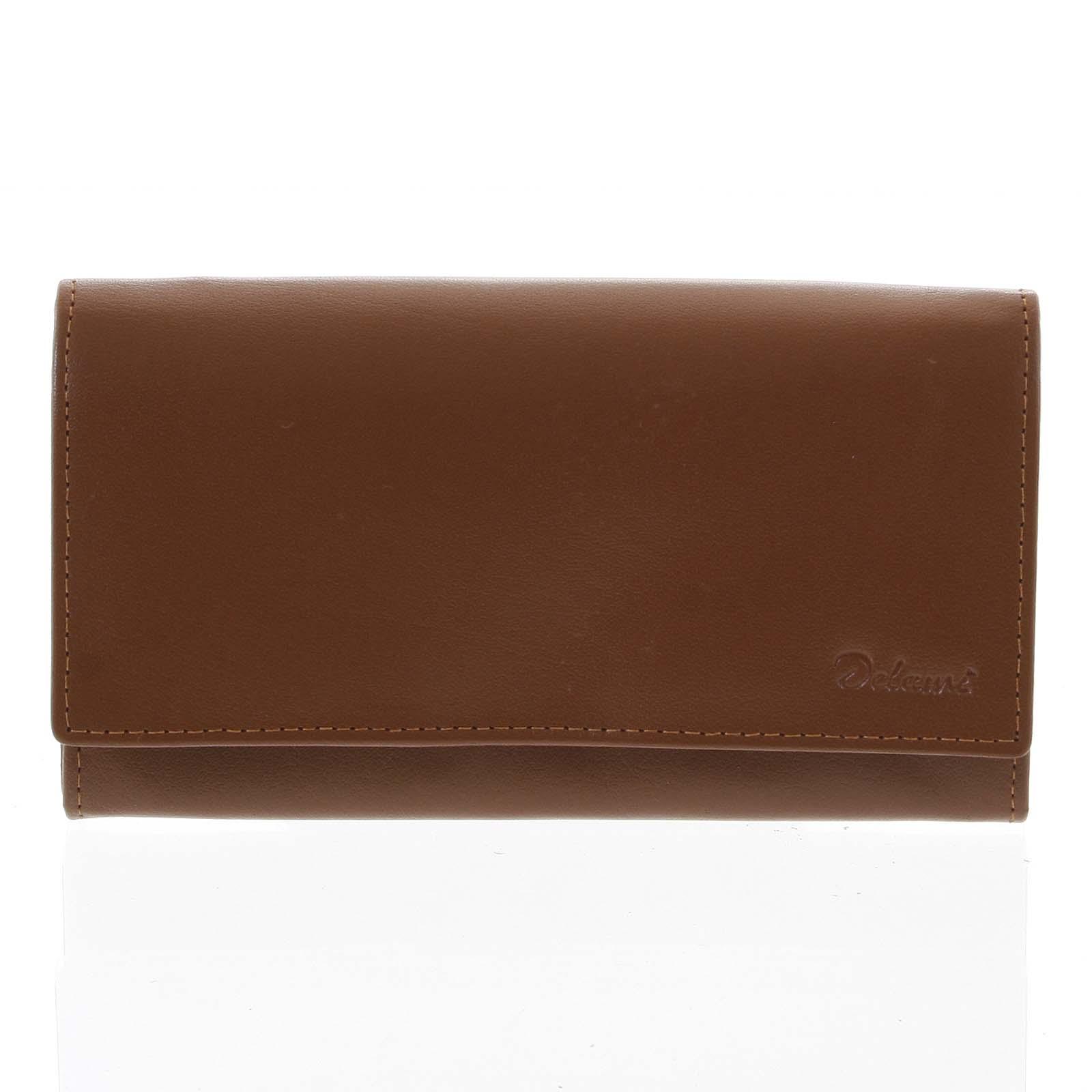 Dámská kožená peněženka světle hnědá - Delami Shelby