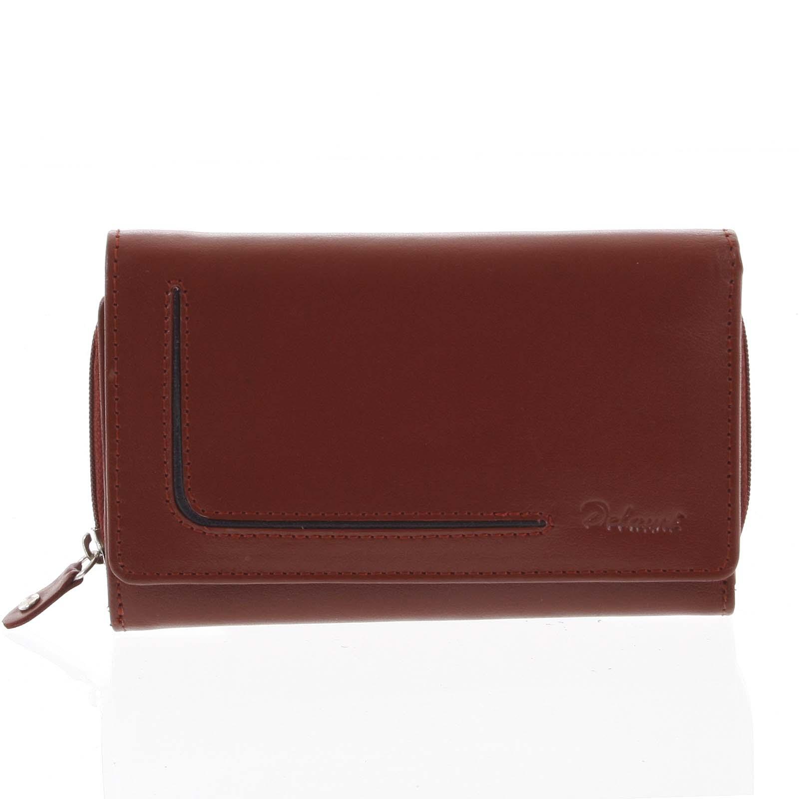 Dámská kožená peněženka červená - Delami Nuria