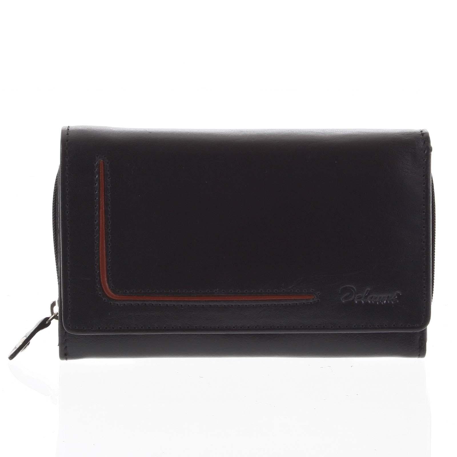 Dámská kožená peněženka černá - Delami Nuria