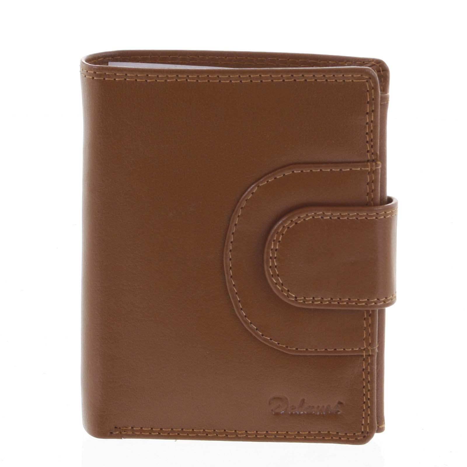 Pánská kožená peněženka světle hnědá - Delami Armando