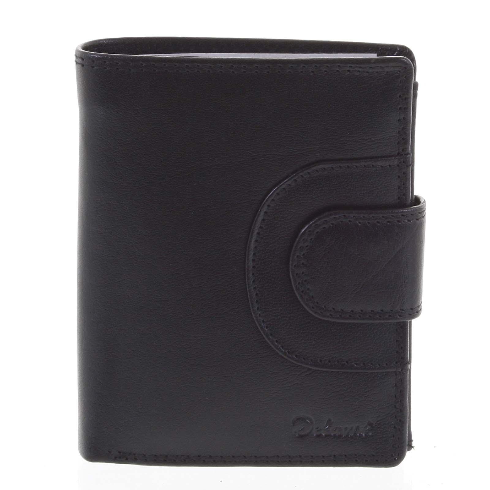 Pánská kožená peněženka černá - Delami Armando