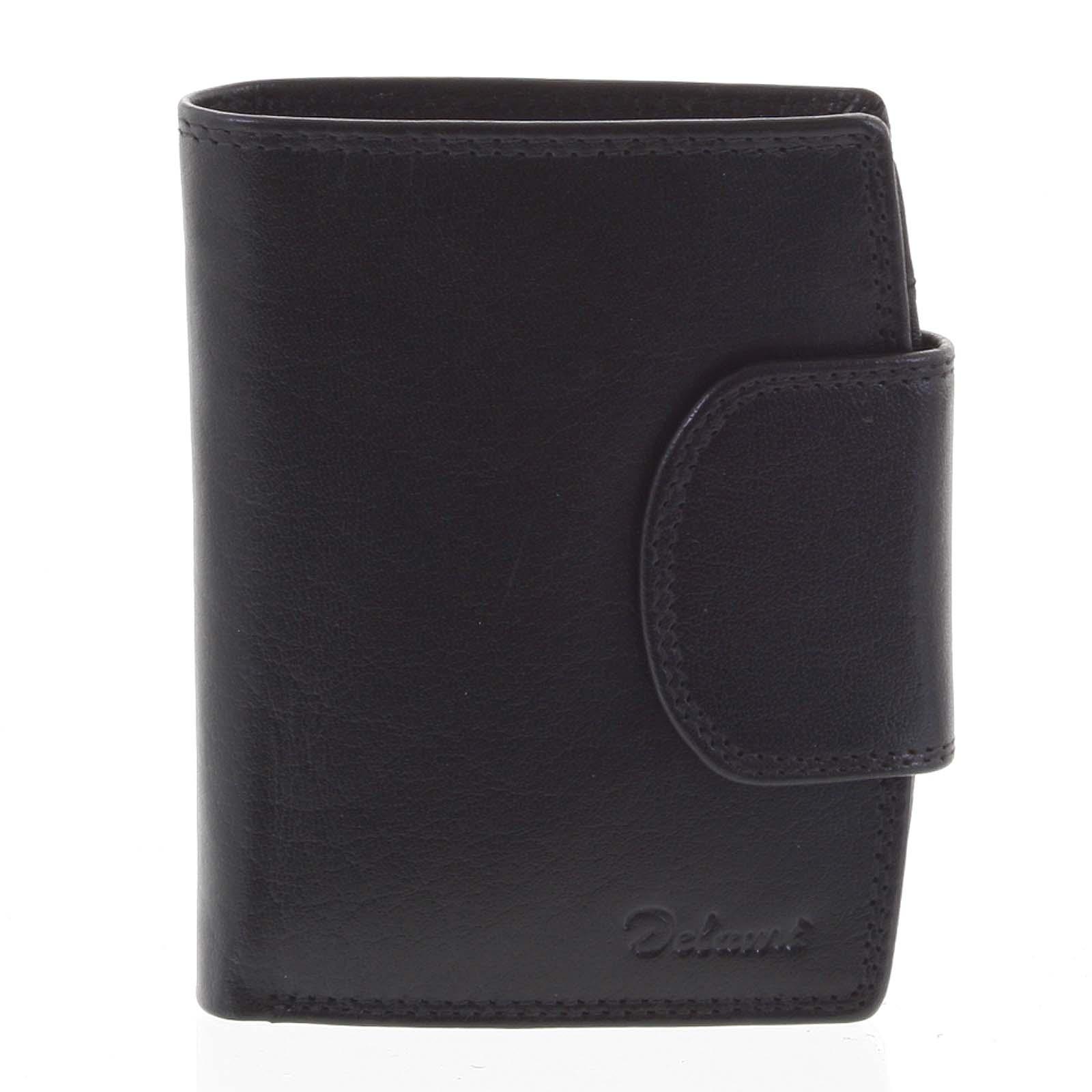Kožená peněženka černá - Delami Chase
