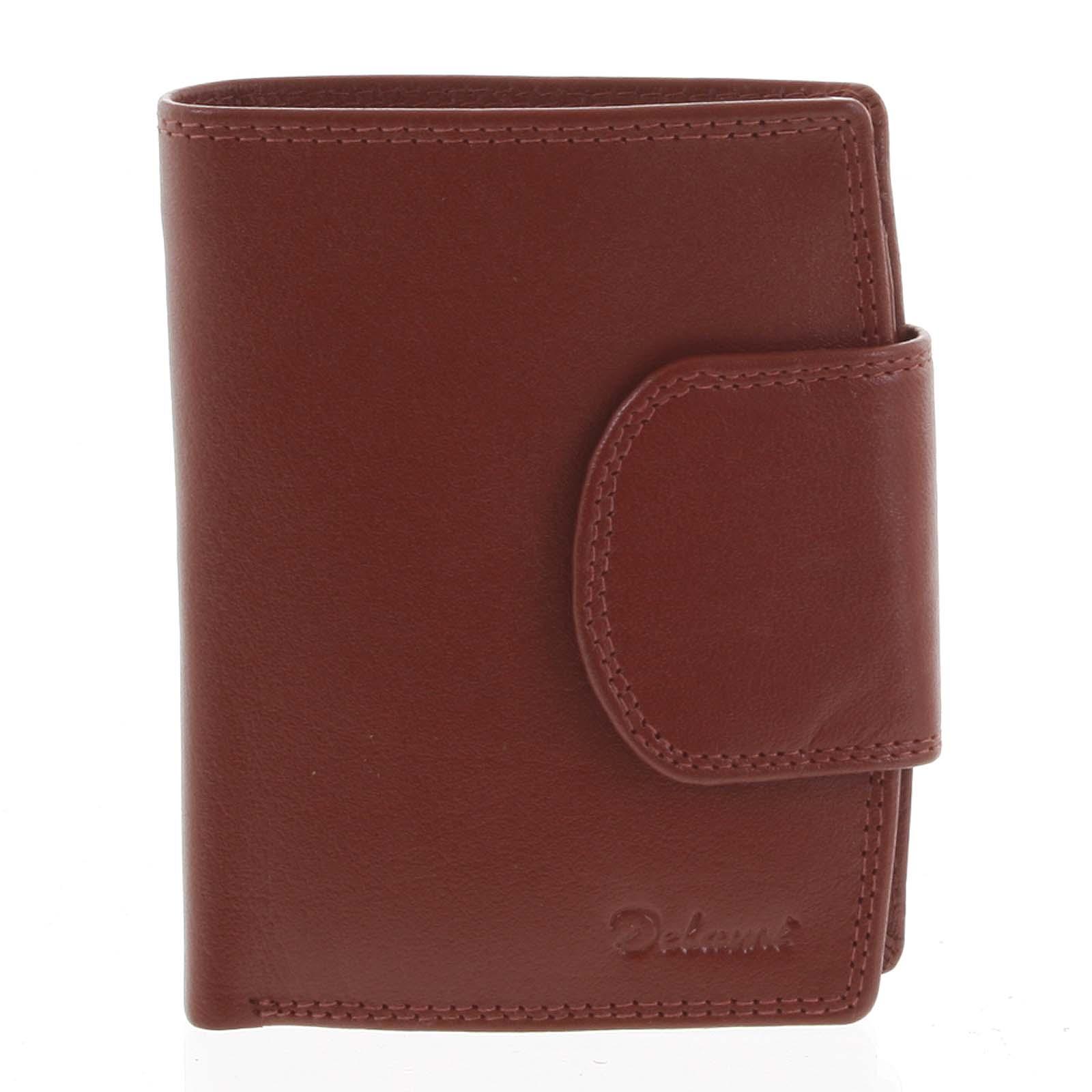 Kožená peněženka červená - Delami Chase