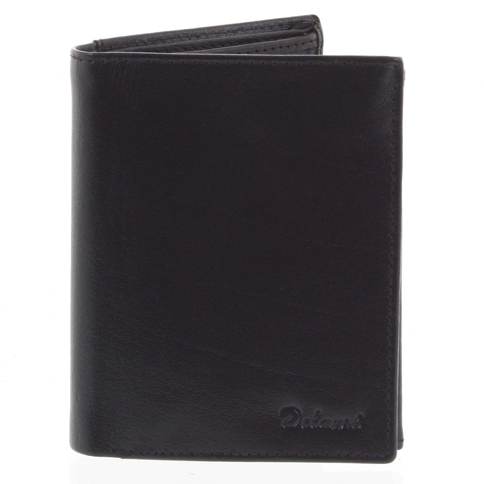 Pánská kožená peněženka černá - Delami Jawad