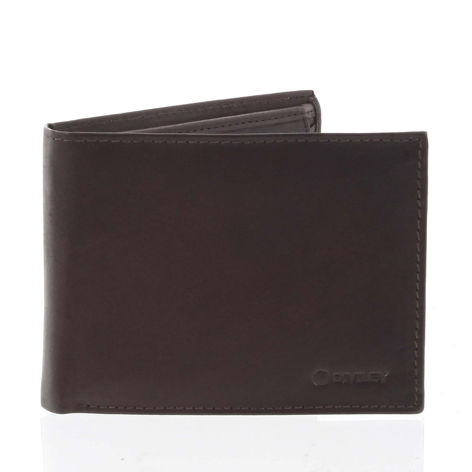 Pánská volná hnědá kožená peněženka - Diviley Cycbet