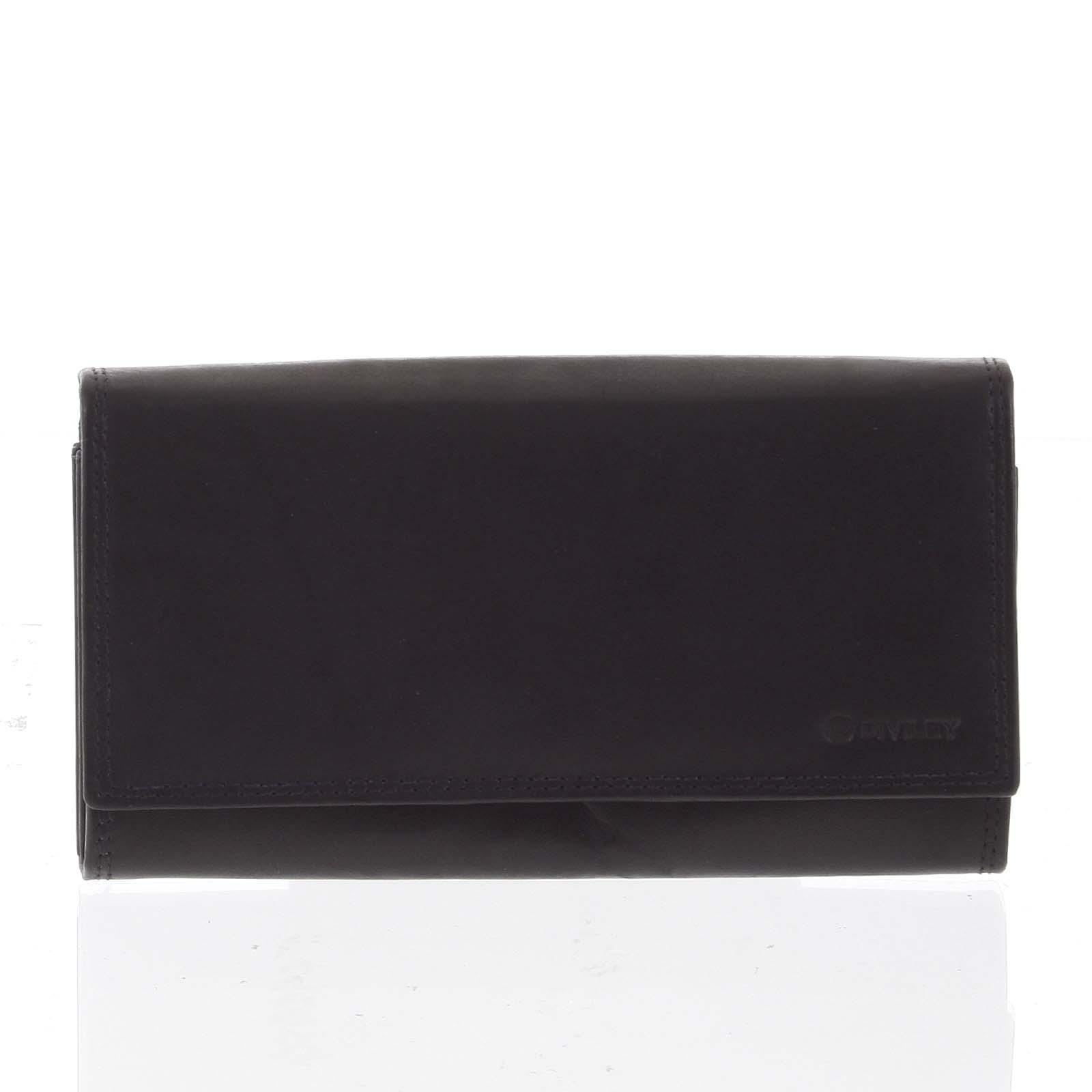 Dámská klasická černá kožená peněženka - Diviley Svemir