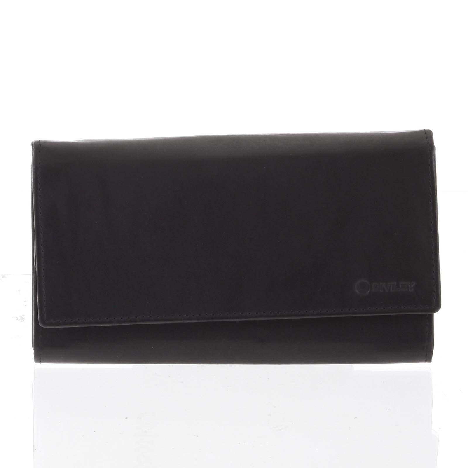 Dámská klasická černá kožená peněženka - Diviley Uniberso