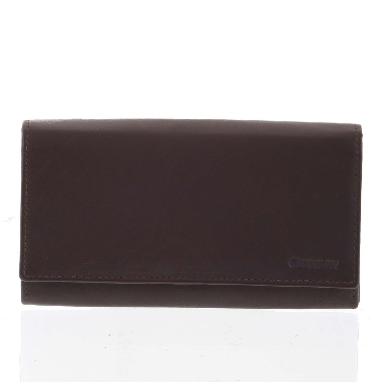 Dámská klasická hnědá kožená peněženka - Diviley Uniberso