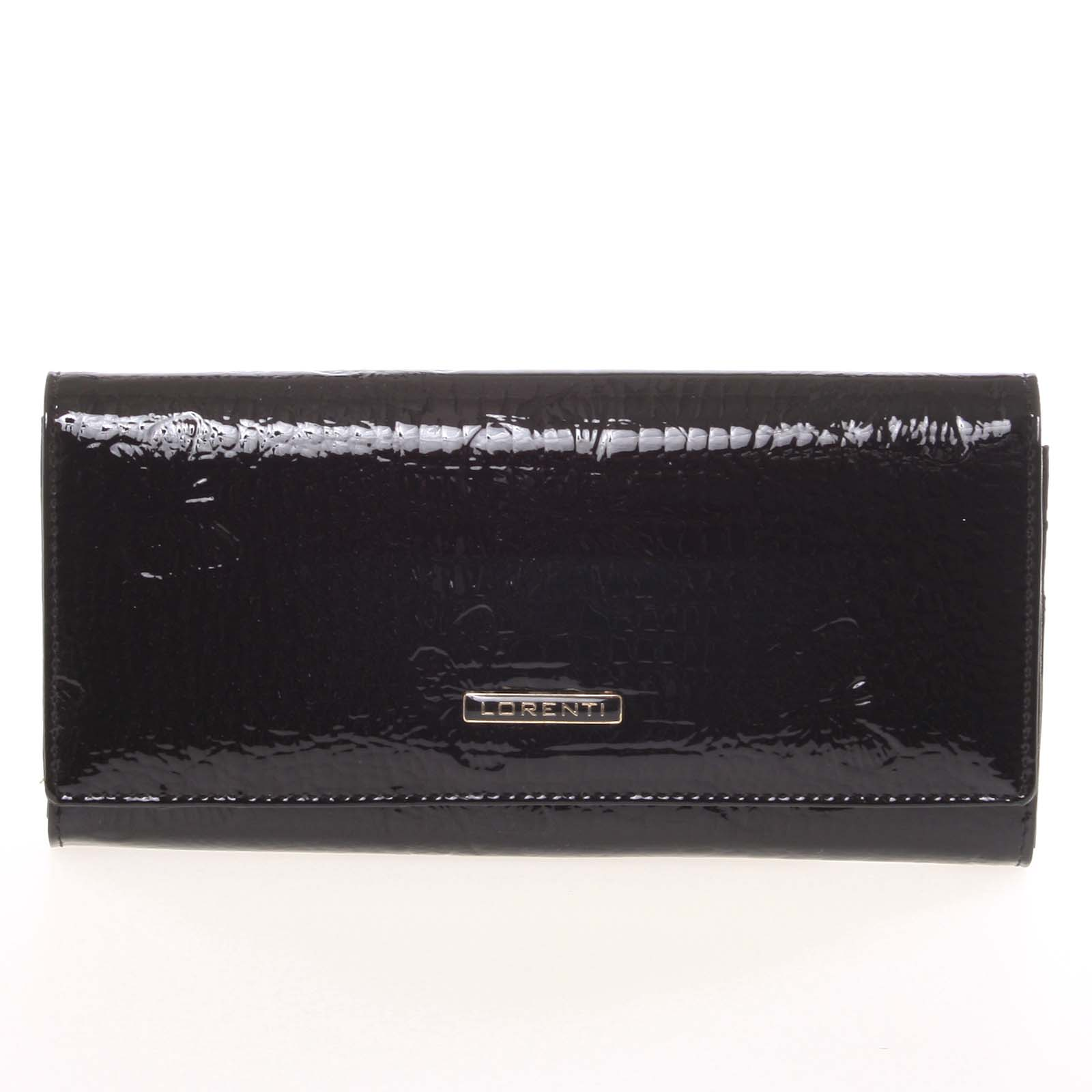 Dámská módní kožená lakovaná peněženka černá - Lorenti Idylla