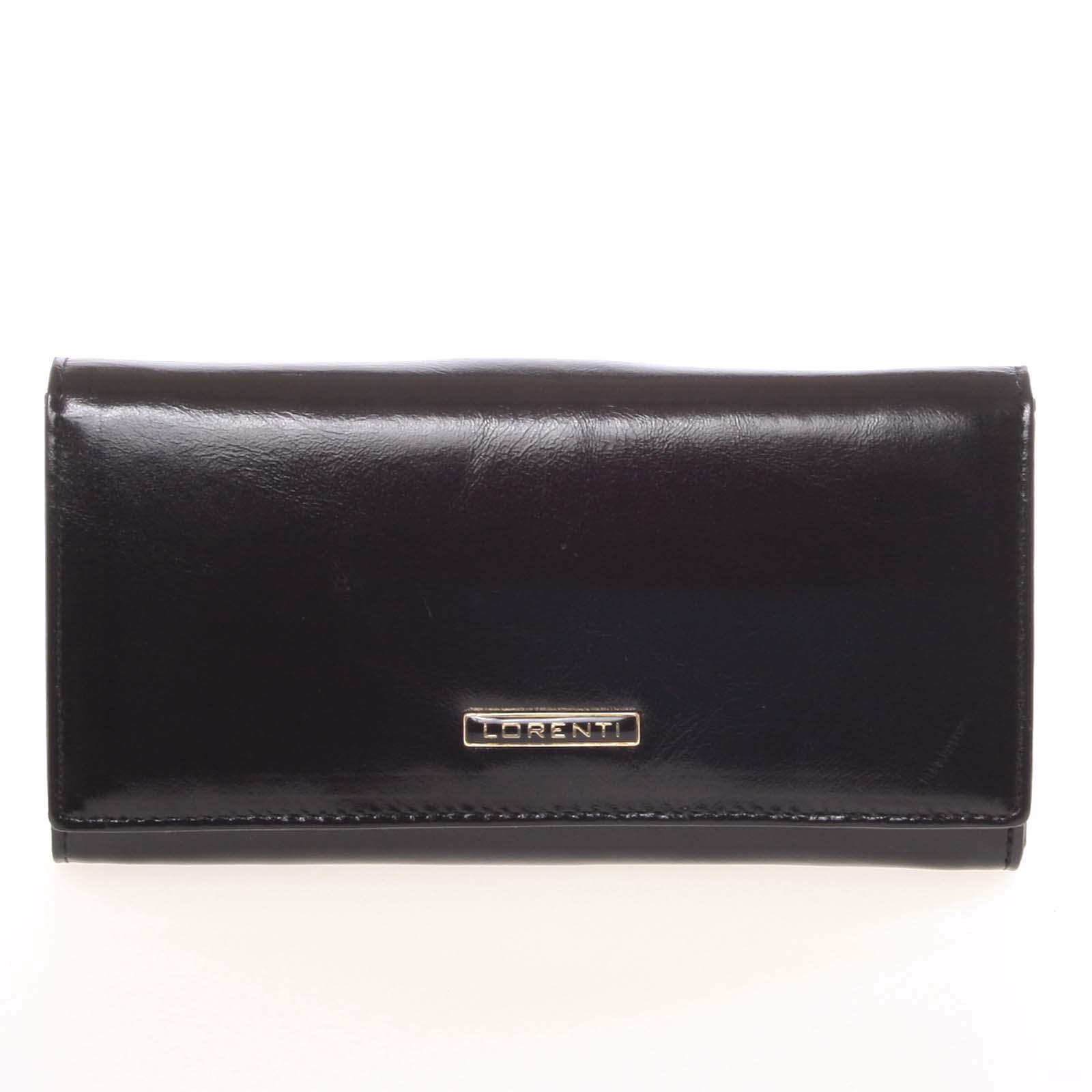 Luxusní dámská kožená peněženka černá - Lorenti 4003N