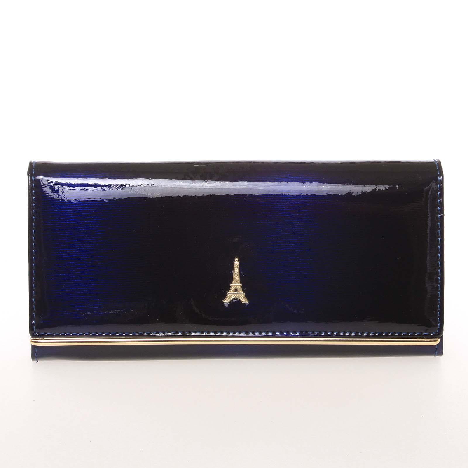 Luxusní kožená dámská peněženka tmavě modrá - PARIS 72401DSHK